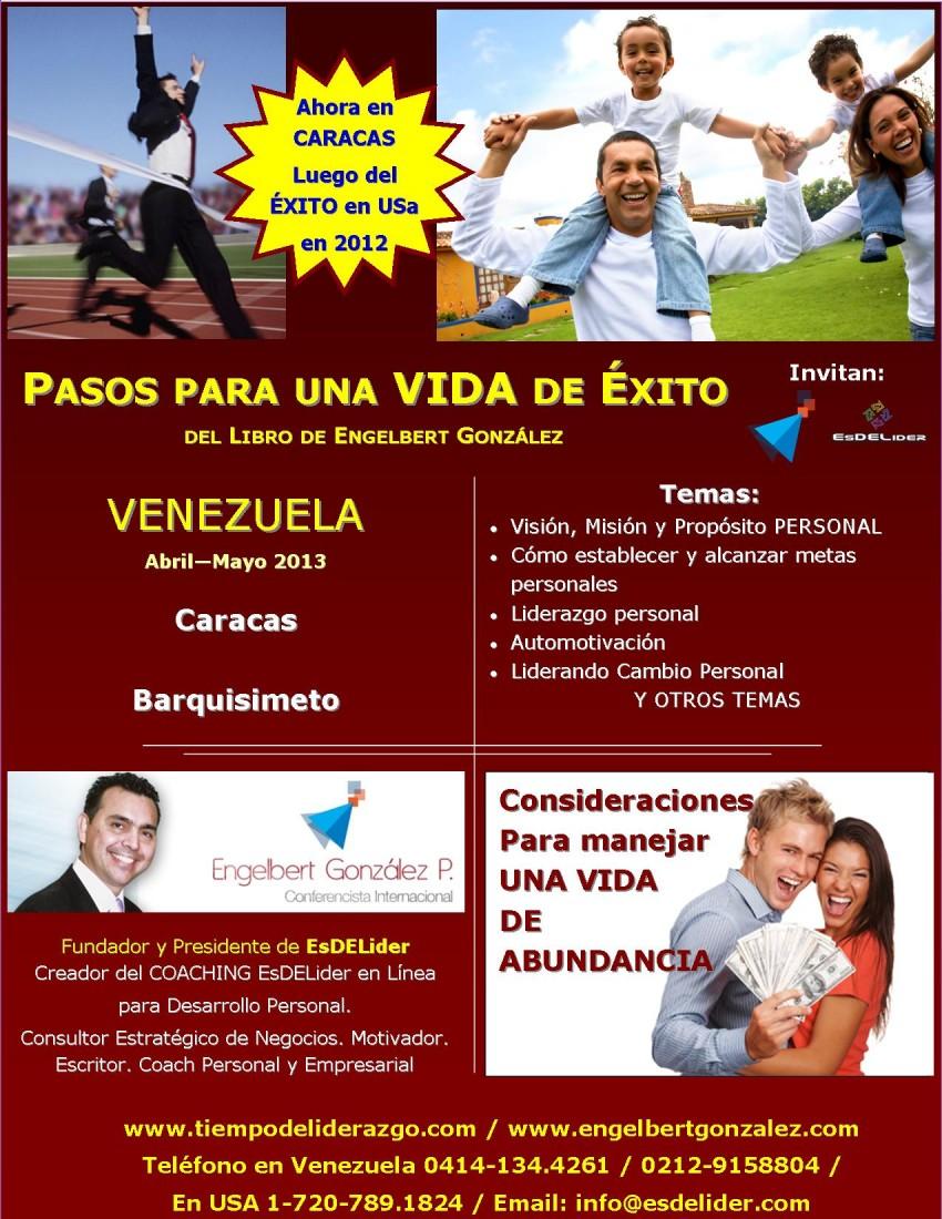 Mayo 2013: Conferencia «PASOS PARA UNA VIDA DE ÉXITO» en Caracas