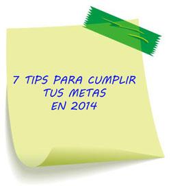7 TIPS PARA CUMPLIR TUS METAS EN 2014